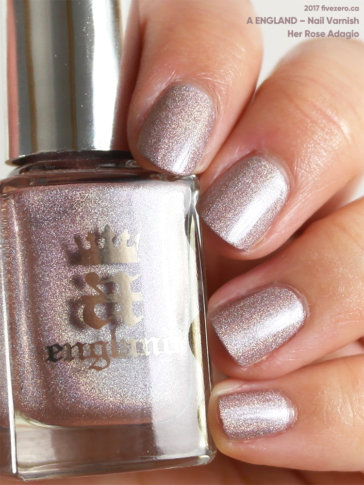A England Nail Varnish in Her Rose Adagio, swatch