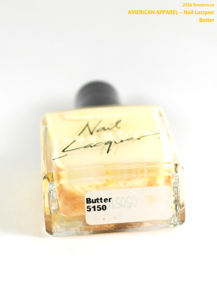 American Apparel Nail Lacquer in Butter, label