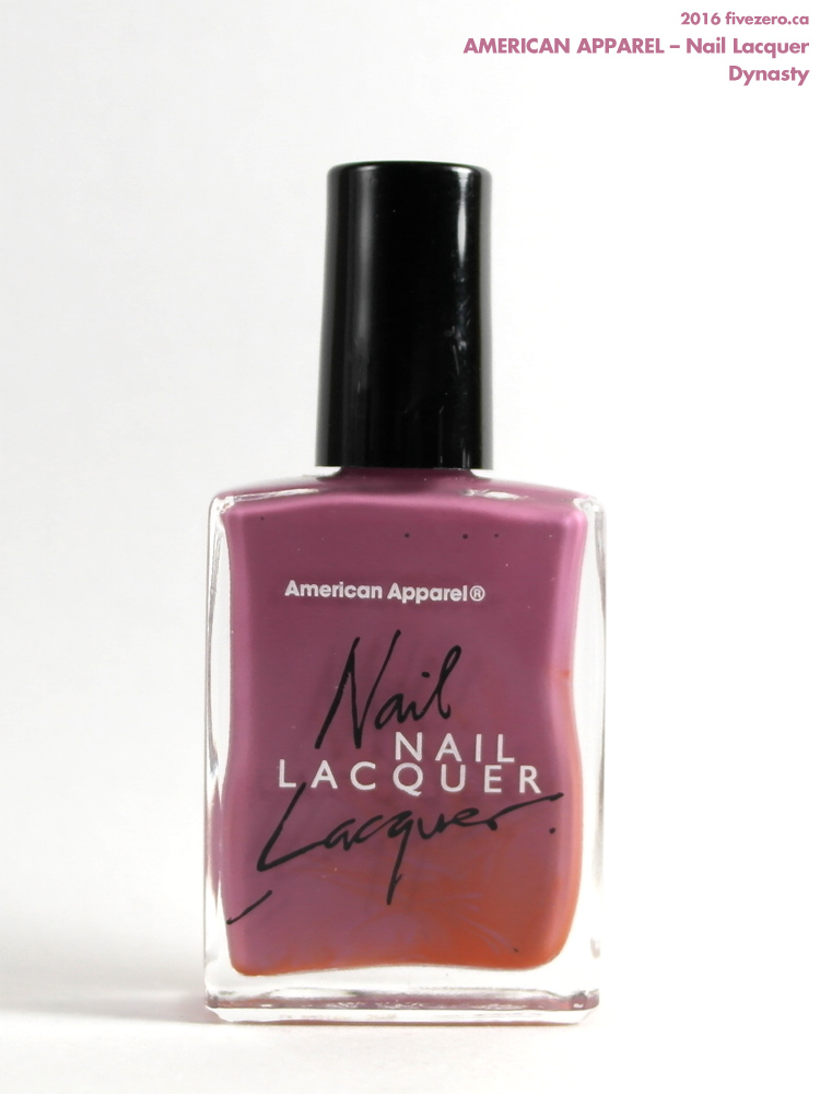 American Apparel Nail Lacquer in Dynasty, bottle