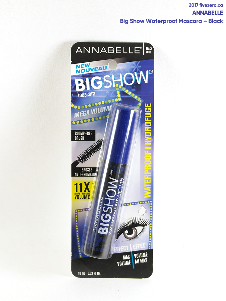 Annabelle Big Show Waterproof Mascara in Black