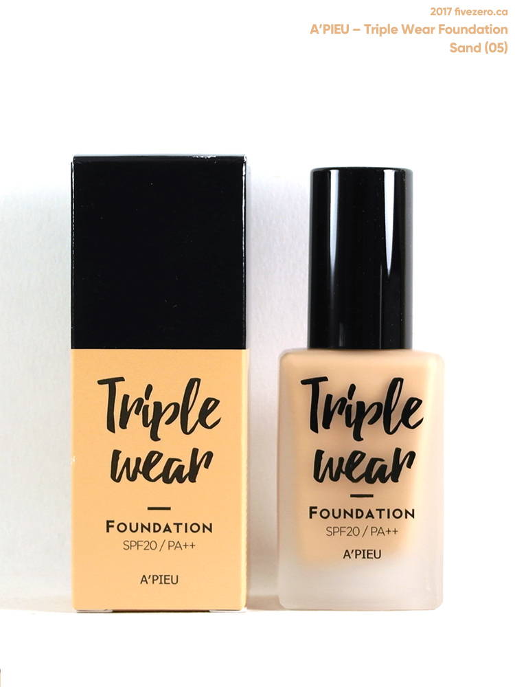 A'Pieu Triple Wear Foundation in Sand