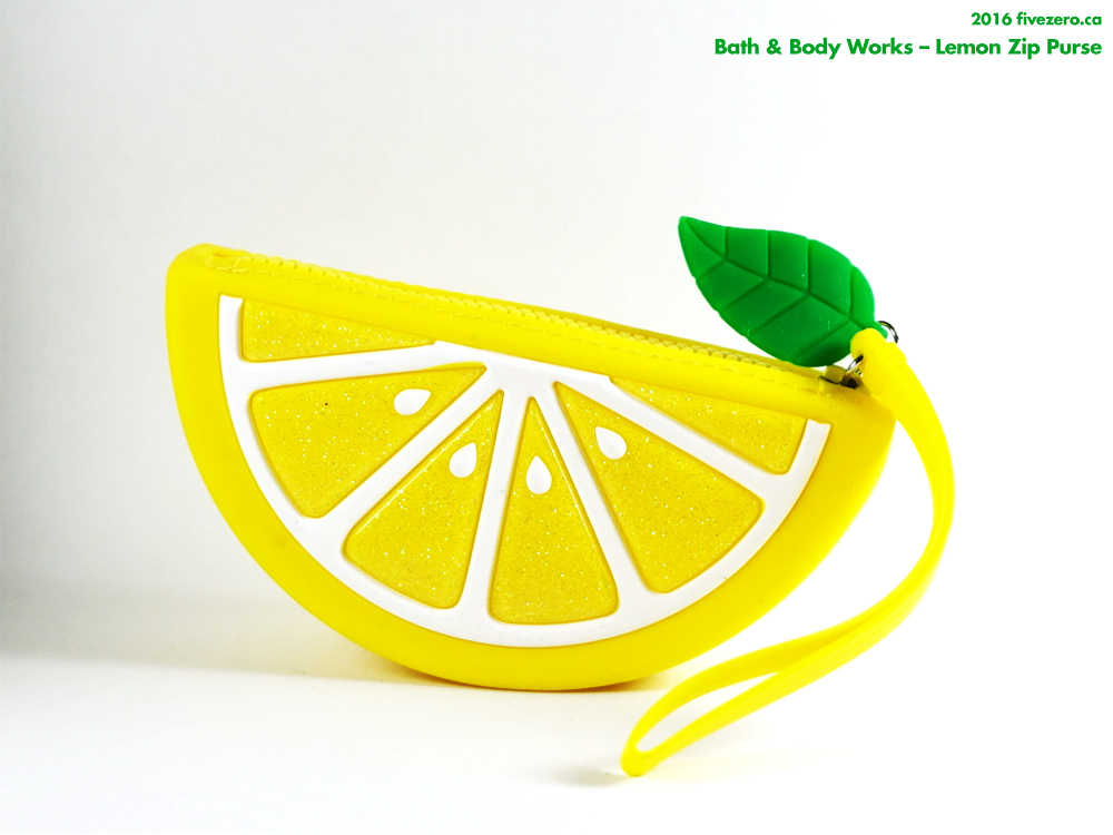 Bath & Body Works lemon zip purse