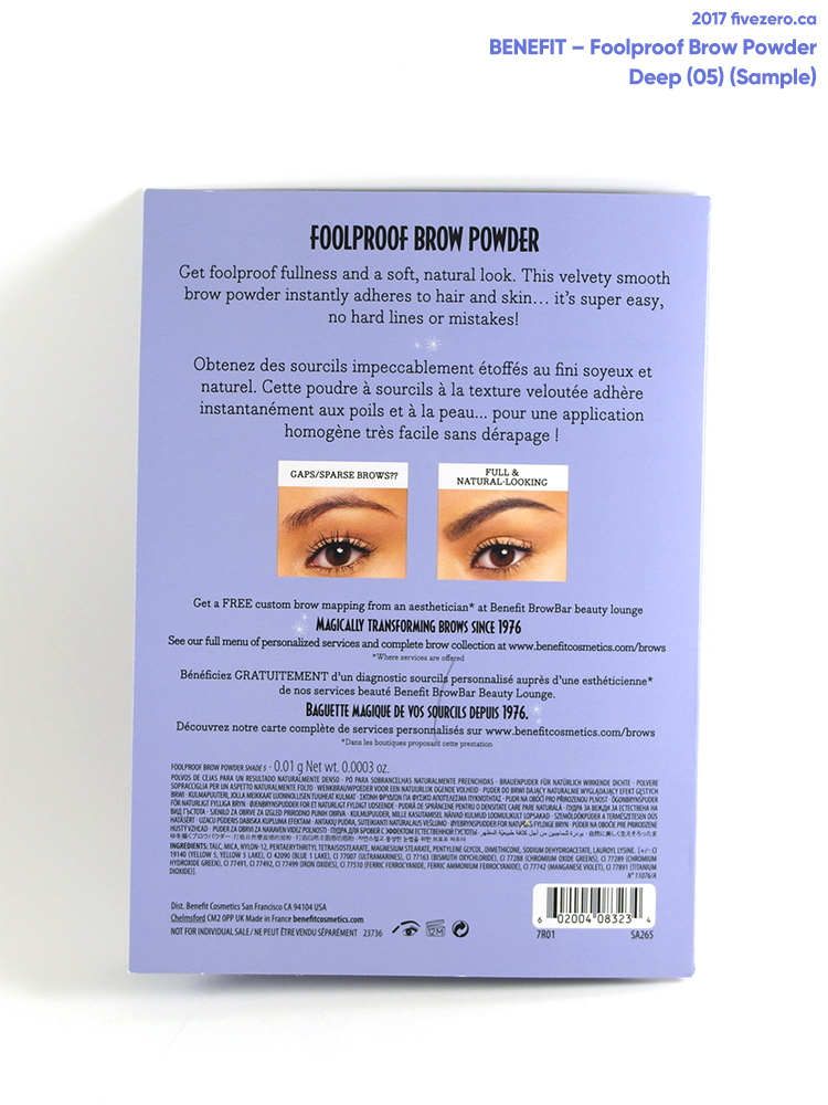 BeneFit Foolproof Brow Powder in Dark (05) (sample)