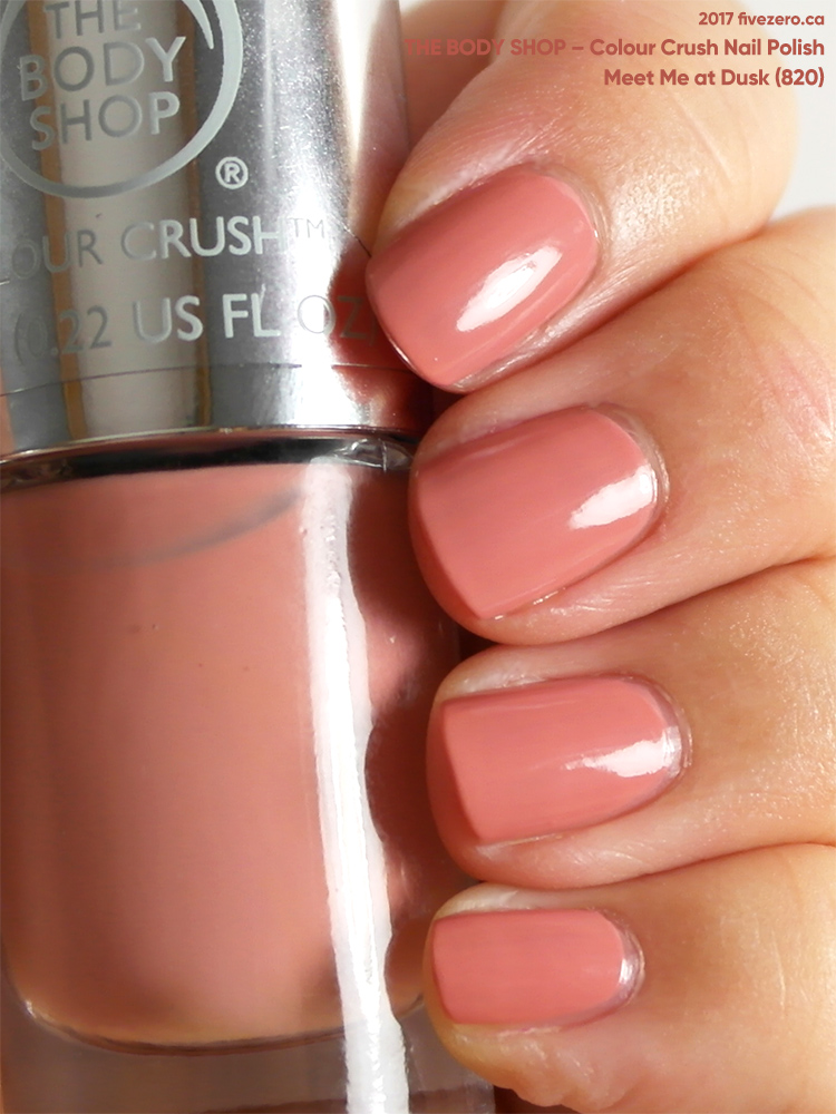 The Body Shop Colour Crush Nail Polish in Meet Me at Dusk, swatch