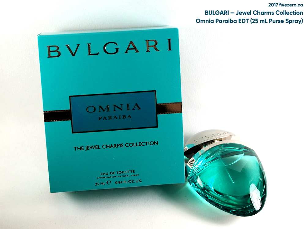 Bulgari Omnia Paraiba EDT (Jewel Charms Collection), 25 mL Purse Spray