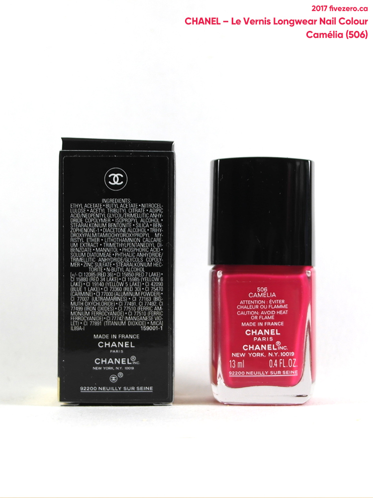 Chanel Le Vernis Longwear Nail Colour in Camélia (566), label