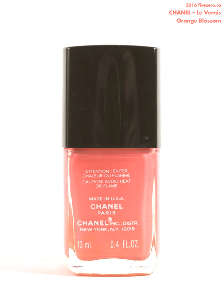 Chanel Le Vernis in Orange Blossom, label