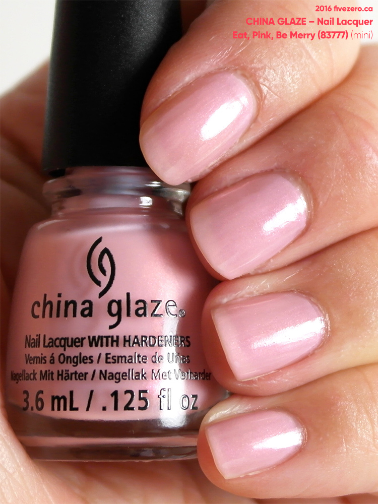 China Glaze Nail Lacquer in Eat, Pink, Be Merry, swatch