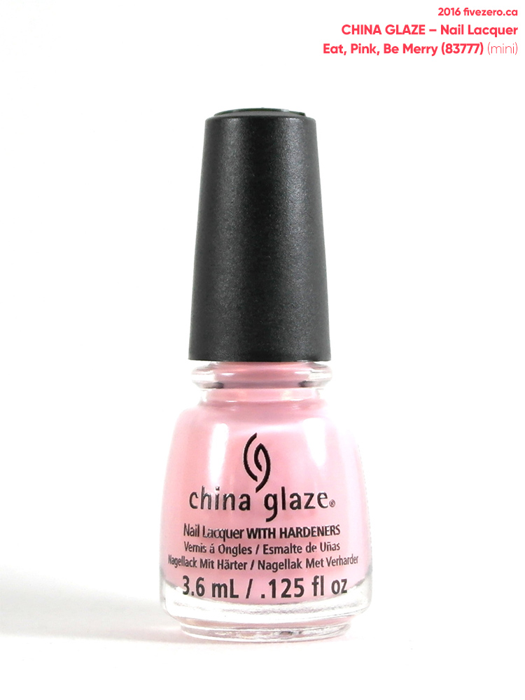 China Glaze Nail Lacquer in Eat, Pink, Be Merry