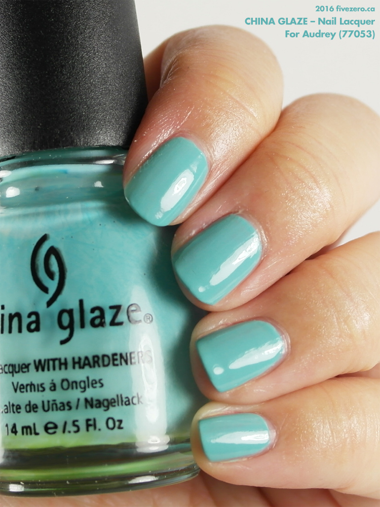 China Glaze Nail Lacquer in For Audrey, label