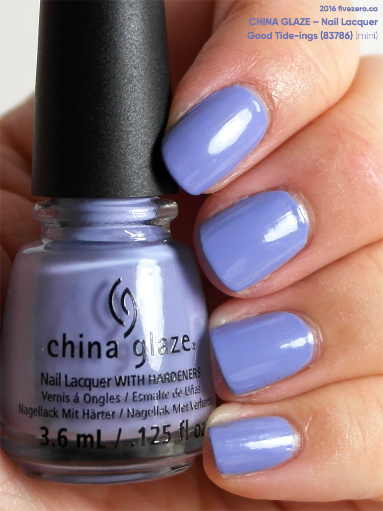 China Glaze Nail Lacquer in Good Tide-ings, swatch