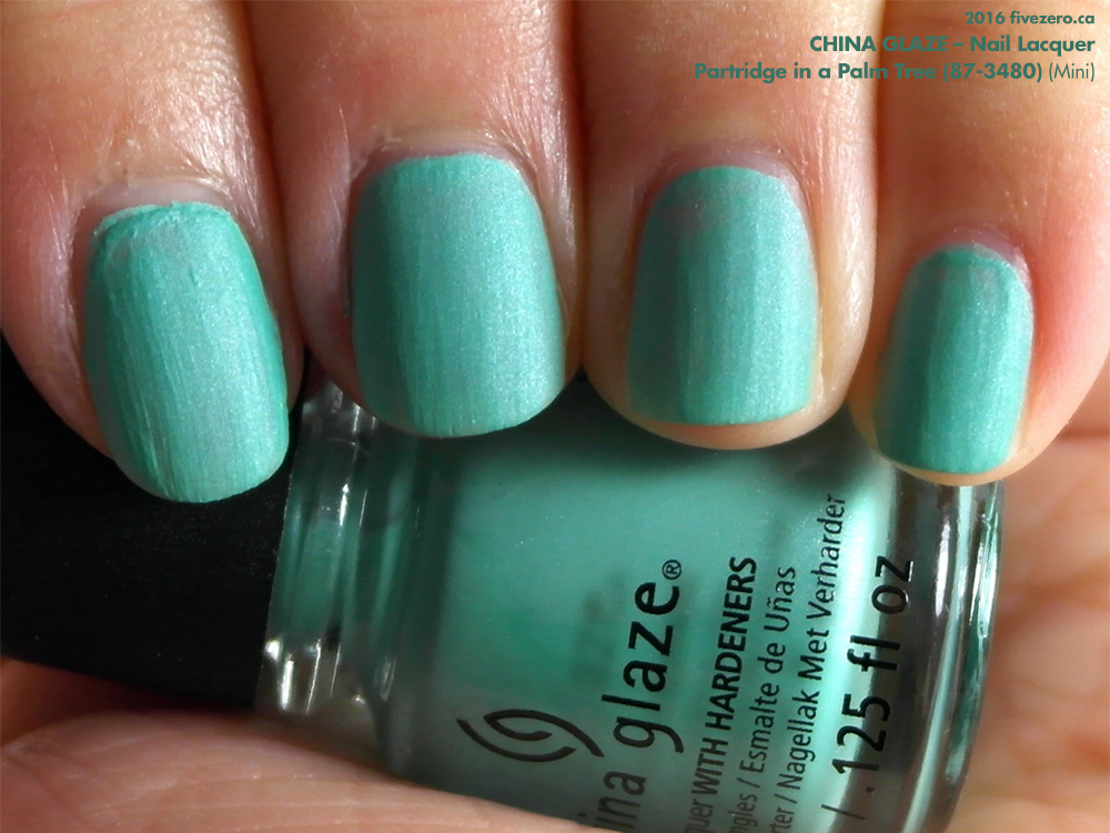 China Glaze Nail Lacquer in Partridge in a Palm Tree (Mini), swatch