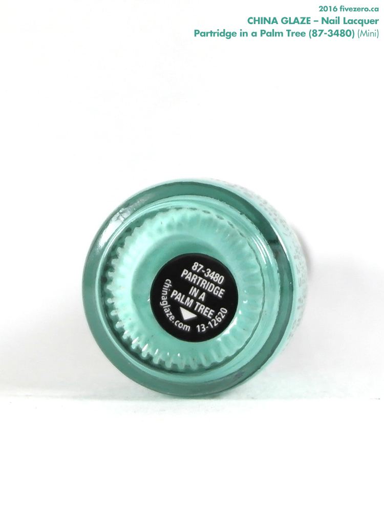 China Glaze Nail Lacquer in Partridge in a Palm Tree (Mini), label