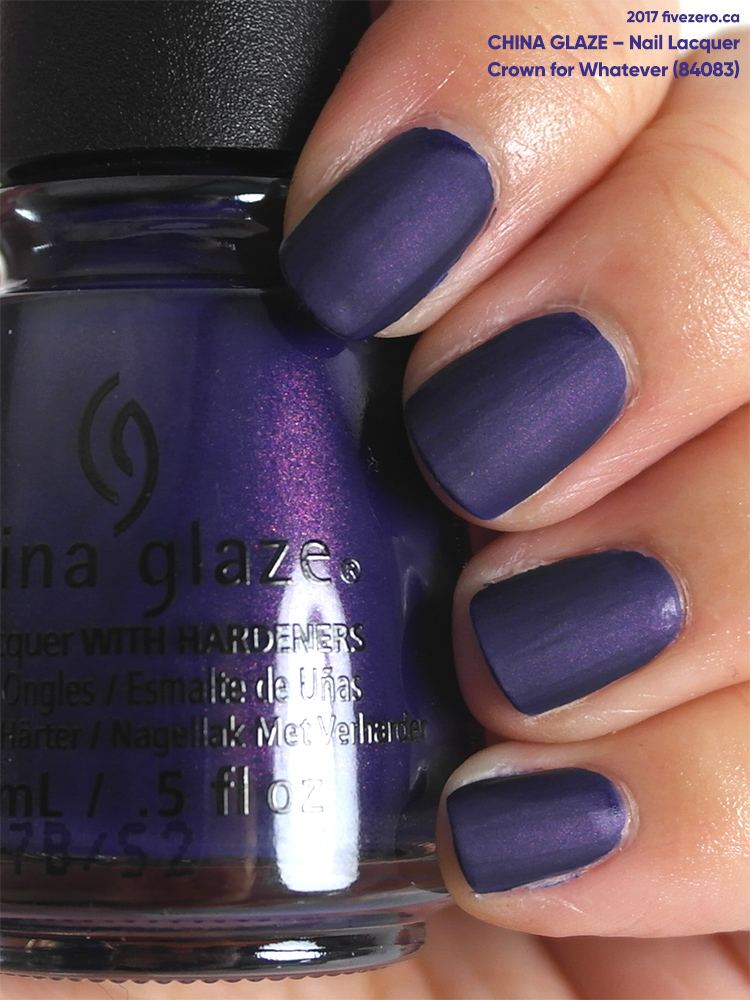 China Glaze Nail Lacquer in Crown for Whatever, swatch