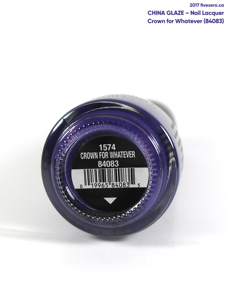 China Glaze Nail Lacquer in Crown for Whatever, label