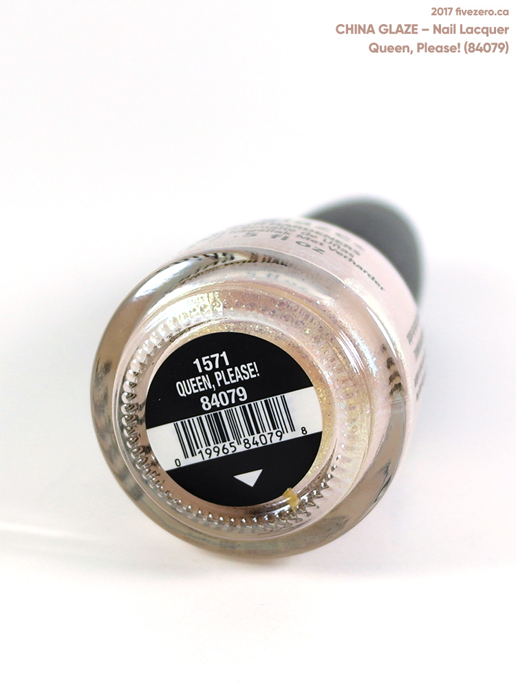 China Glaze Nail Lacquer in Queen, Please!, label