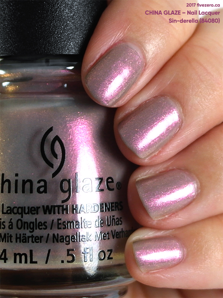China Glaze Nail Lacquer in Sin-derella, swatch