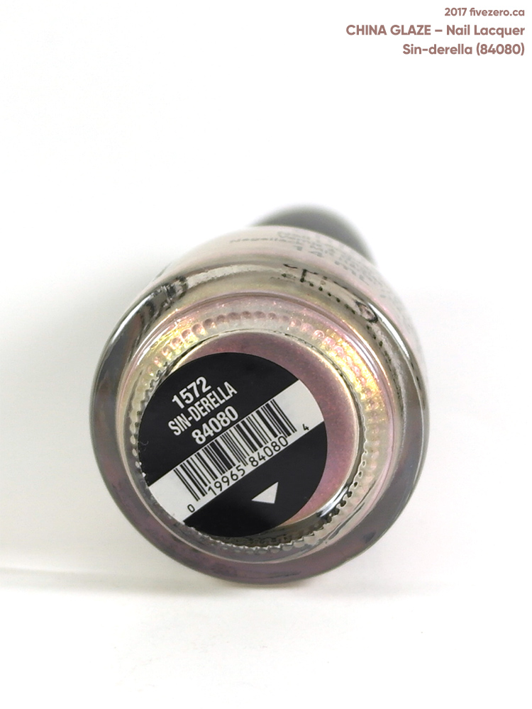 China Glaze Nail Lacquer in Sin-derella, label