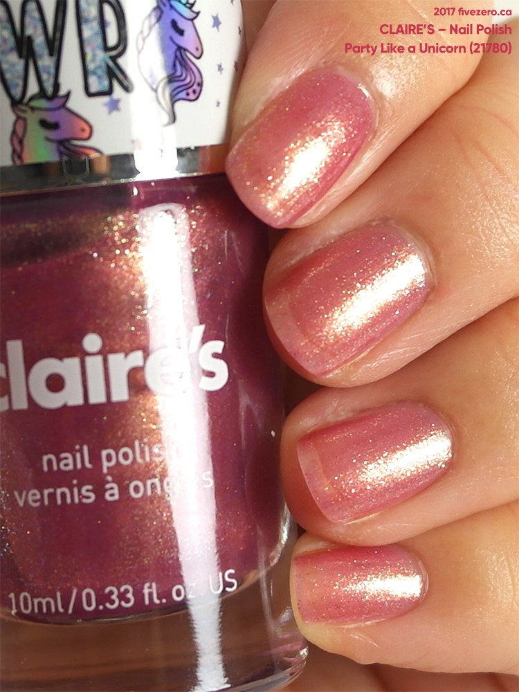 Claire's Nail Polish in Party Like a Unicorn, swatch