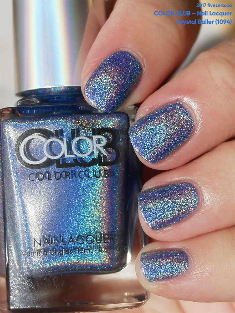 Color Club Nail Lacquer in Crystal Baller (Halo Hues), swatch in sunlight