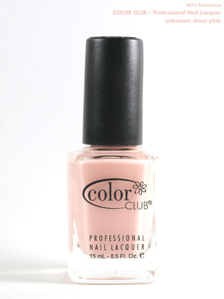 Color Club Professional Nail Lacquer in mystery sheer pink