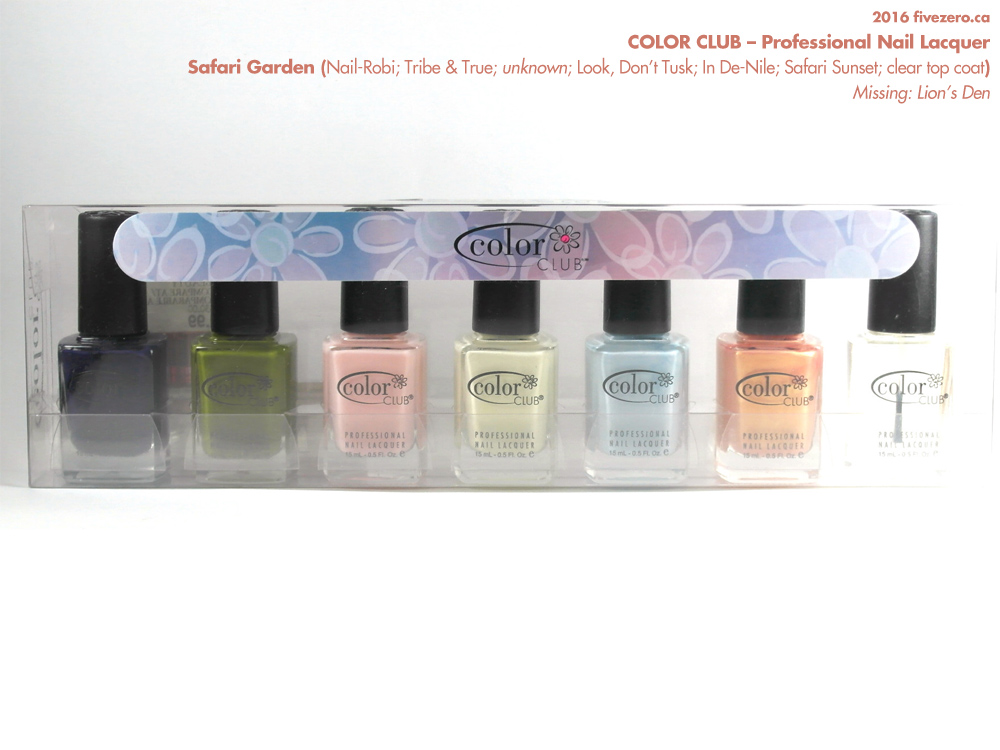Color Club Professional Nail Lacquer, Safari Garden collection