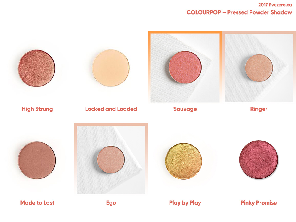 fivezero's ColourPop Super Shock Shadow haulage (May 2017)