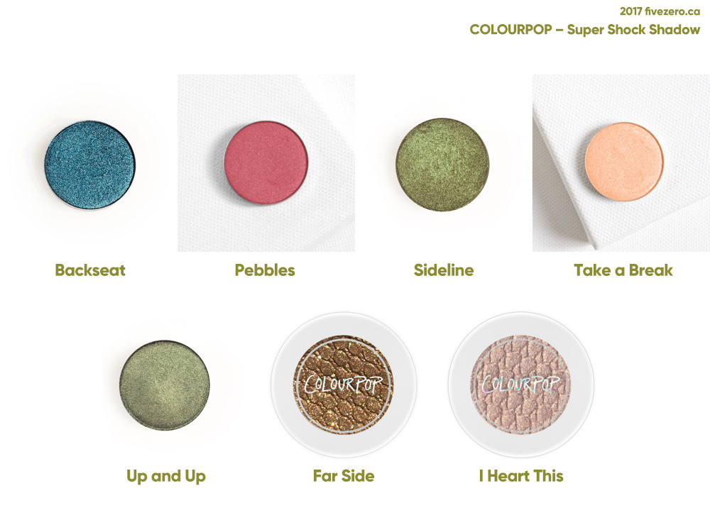 fivezero's ColourPop Pressed Powder Shadow & Super Shock Shadow haulage (May 2017)