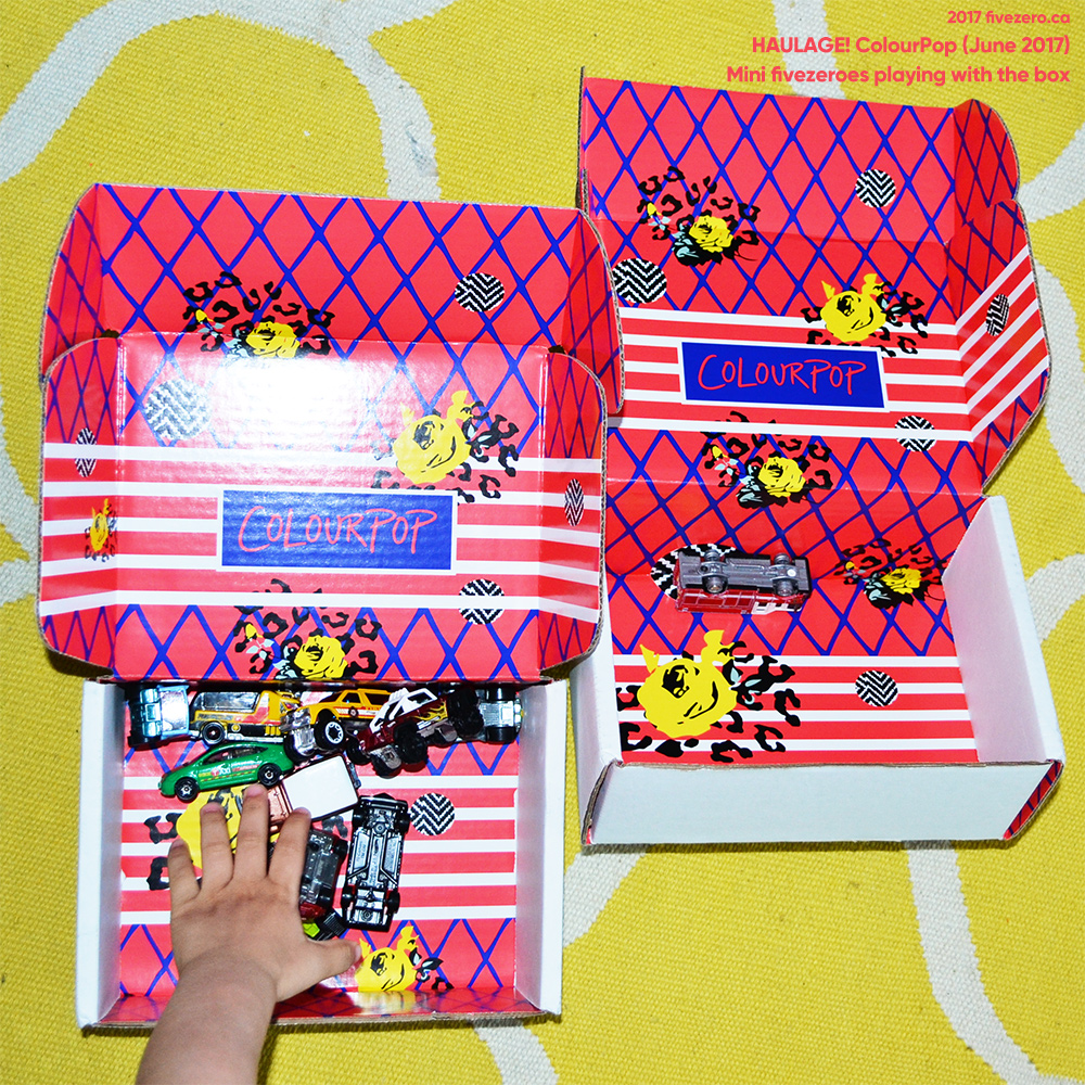 Peanut's Hot Wheels cars in a ColourPop box
