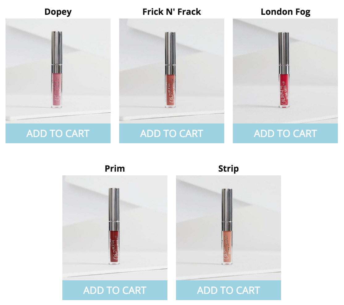 fivezero's ColourPop freebie Mini Ultra Satin Liquid Lip shades (May 2017)