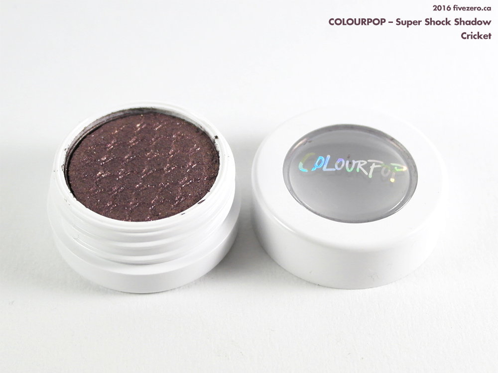 ColourPop Super Shock Shadow in Cricket