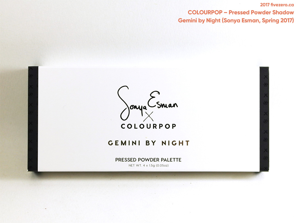 ColourPop Gemini by Night Palette (Sonya Esman × ColourPop, Spring 2017)