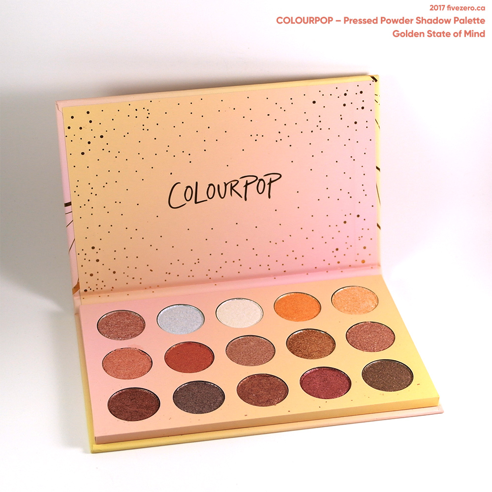 ColourPop Pressed Powder Shadow Palette in Golden State of Mind