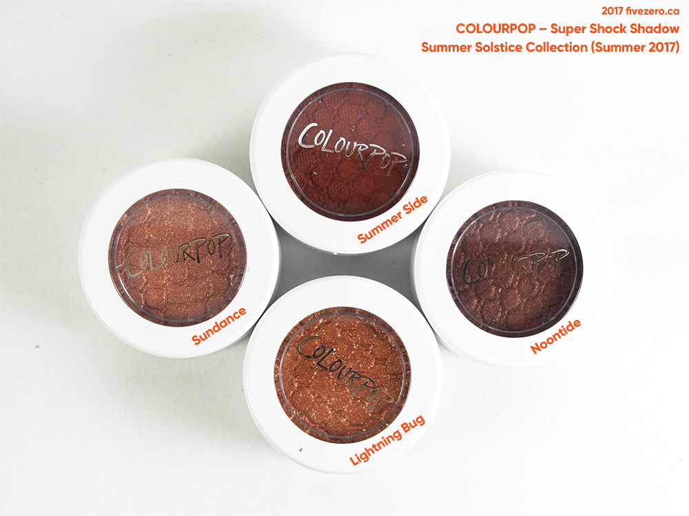 ColourPop Summer Solstice Foursome (Summer 2017)