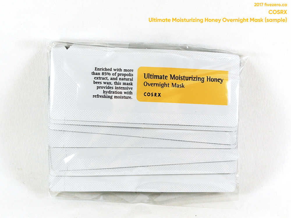 COSrX Ultimate Moisturizing Honey Overnight Mask (10x samples)