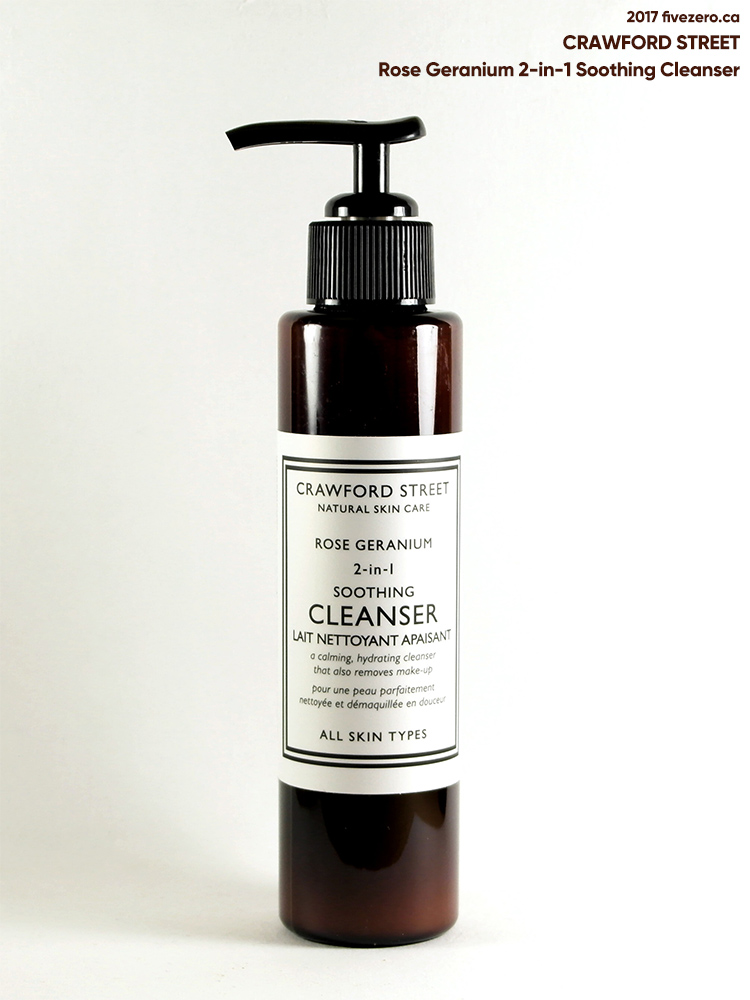 Crawford Street Rose Geranium 2-in-1 Soothing Cleanser
