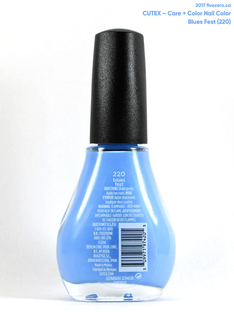 Cutex Care + Color Nail Color in Blues Fest, label