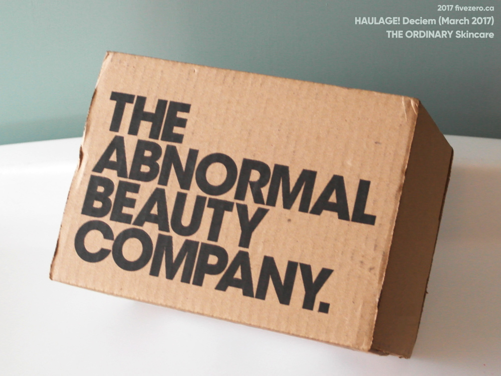 The Ordinary by DECIEM box