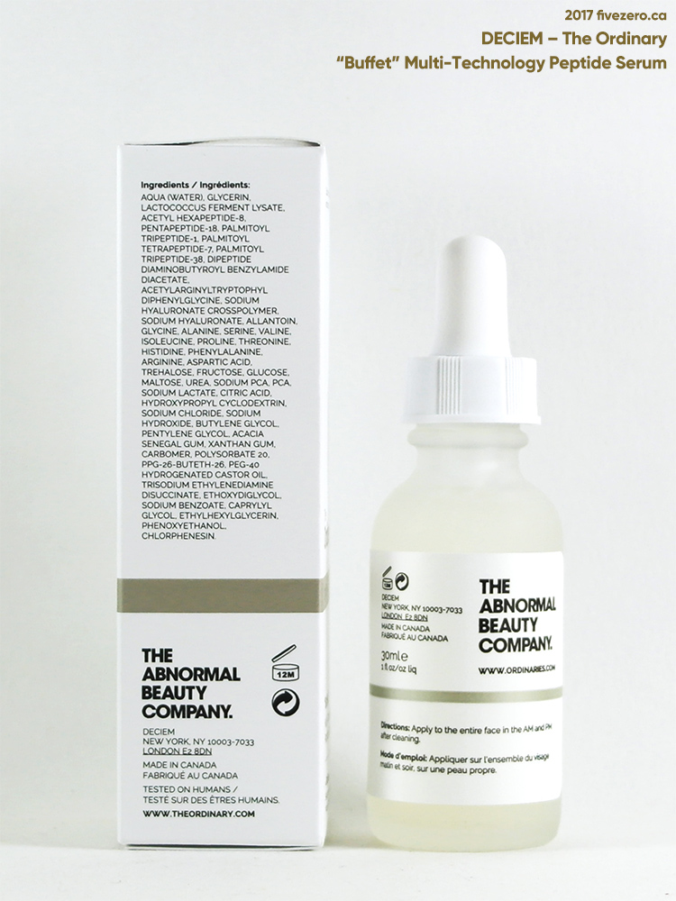 DECIEM The Ordinary Buffet Multi-Technology Peptide Serum