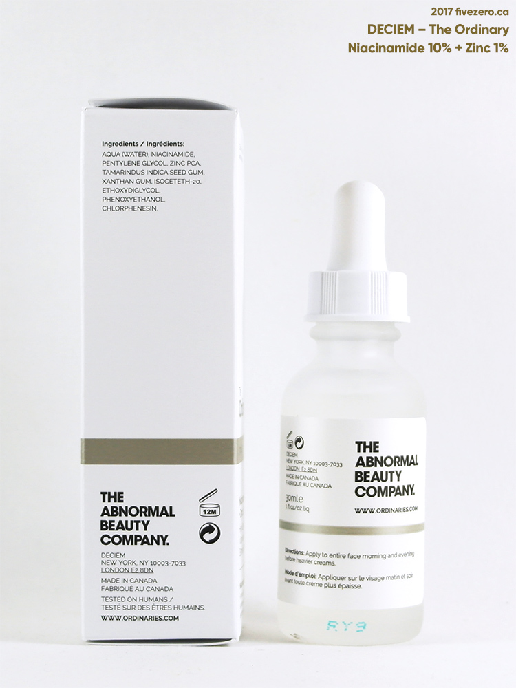 DECIEM The Ordinary Niacinamide 10% + Zinc 1% Blemish Formula