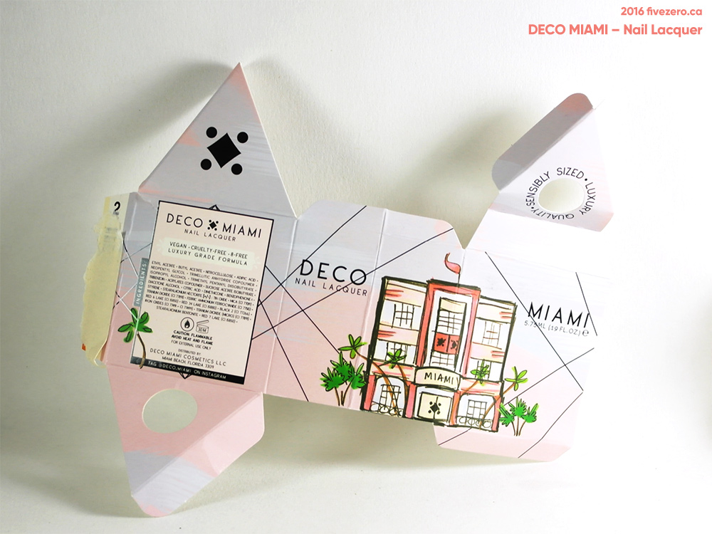 Deco Miami Nail Lacquer, box unfolded