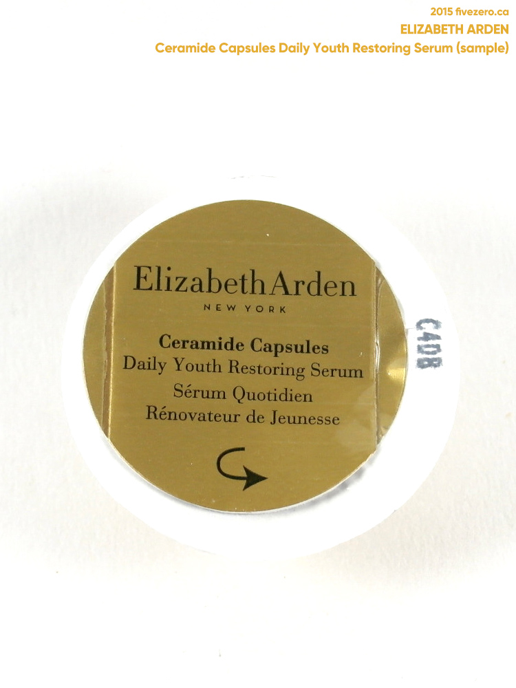 Elizabeth Arden Ceramide Capsules Daily Youth Restoring Serum, label