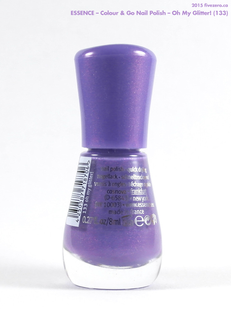 Essence Colour & Go Nail Polish in Oh My Glitter!, label