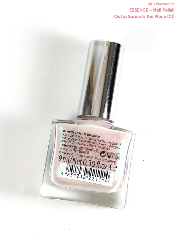 Essence Out of Space Stories Nail Polish in Outta Space Is the Place, label