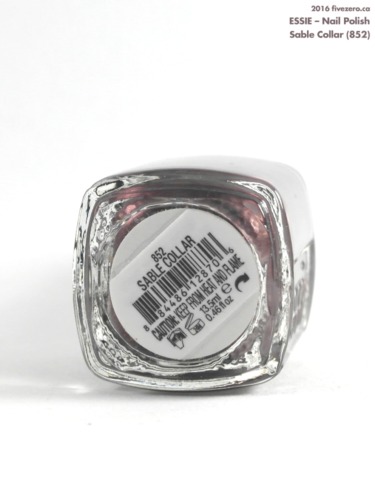 Essie Nail Polish in Sable Collar, label
