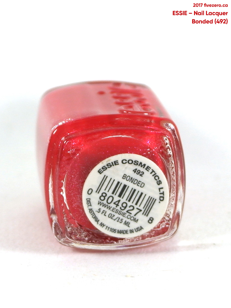 Essie Nail Lacquer in Bonded, label
