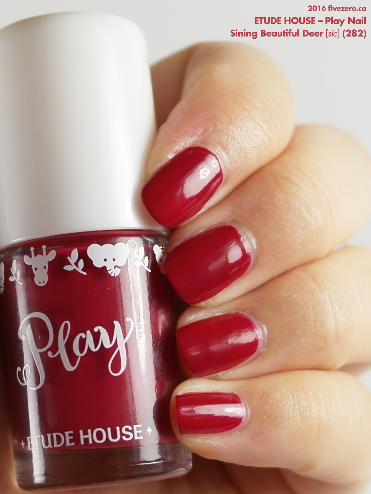 Etude House Play Nail in Sining Beautiful Deer, swatch