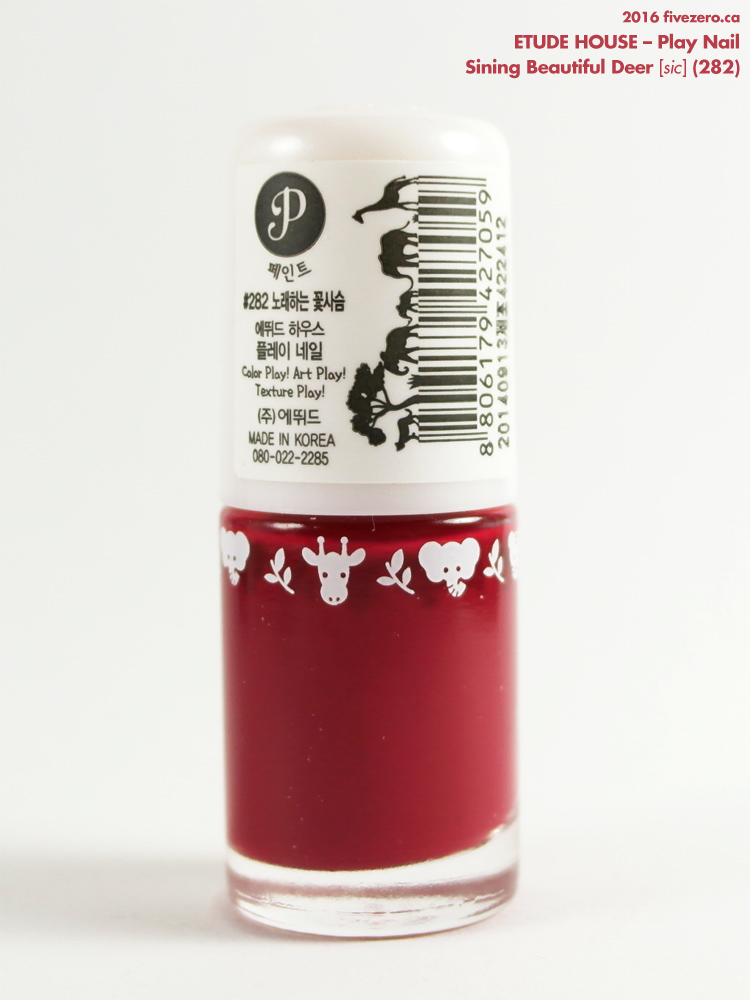 Etude House Play Nail in Sining Beautiful Deer, label