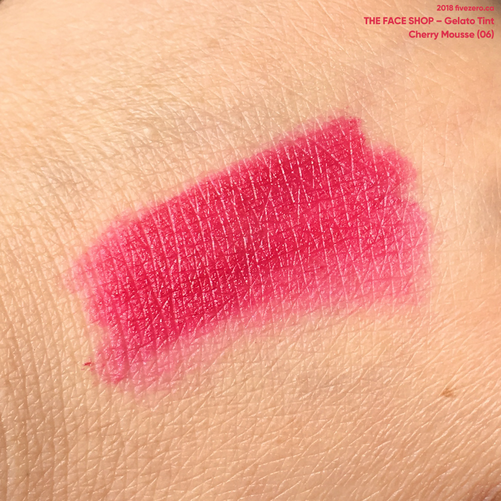 The Face Shop Gelato Tint in Cherry Mousse (06)