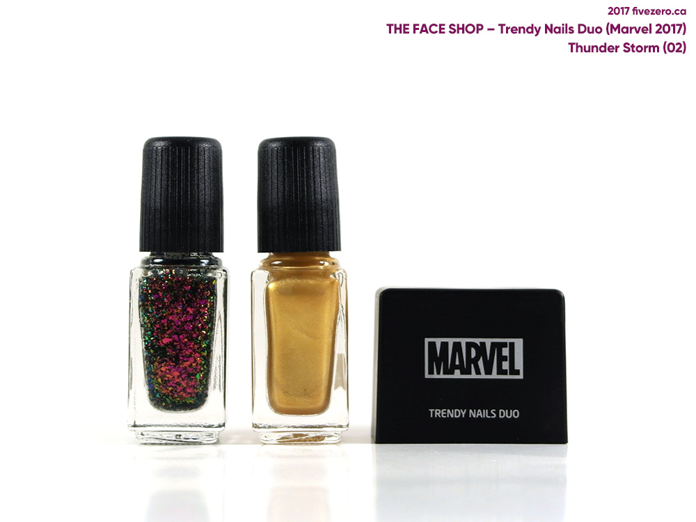 The Face Shop Trendy Nails Duo Marvel Collection, Thunder Storm (Thor)